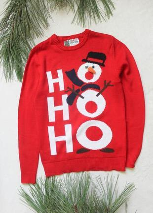 Мужской новогодний свитер со снеговиком (21), размер xs