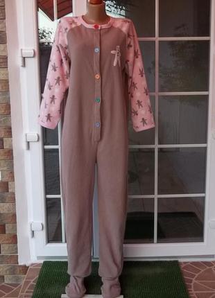 44/46 р флисовый комбинезон пижама кигуруми