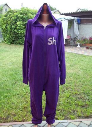 50 р комбинезон пижама кигуруми мужская (велюр/вельвет)