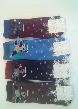 Носки женские махровые новогодние клевер украина мышки