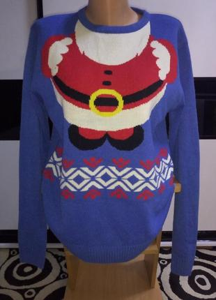 Новогодний свитер,санта клаус,дед мороз.ho,ho,ho