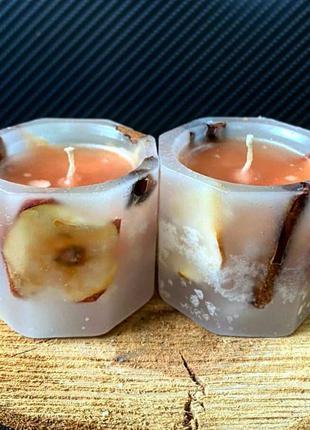 Восьмигранные свечи яблоко-корица