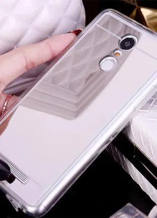 Чехол Зеркальный Силиконовый для Xiaomi Redmi 3, 3S