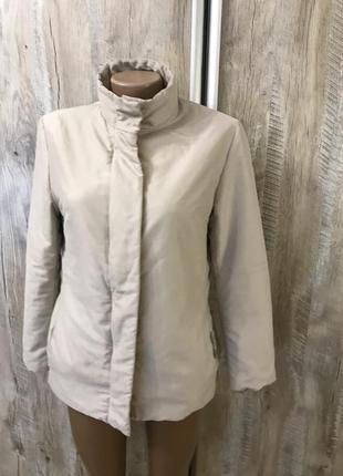 Базовая куртка легкий пуховик бежевый короткий dolce&gabbana