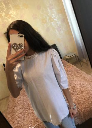 Шикарная блузка zara ❤️ s/m !!! мега летняя распродажа!!