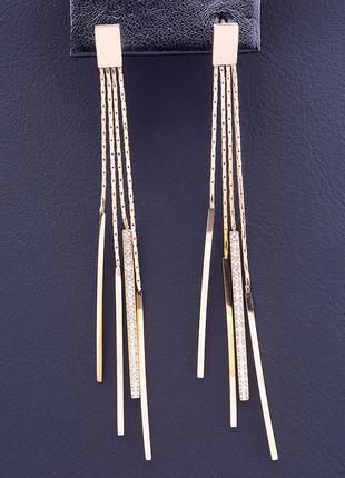 Серьги 'xuping' фианит (позолота 18к(розовая)) 0857900