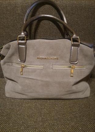 Женская сумка, замша+кожзам