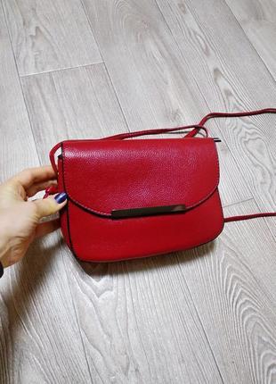 Сумка сумочка через плечо кроссбоди клатч бордовый вишнёвого ц...