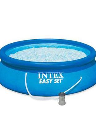 Бассейн семейный с фильтр-насосом Intex (28142) 396х84 см