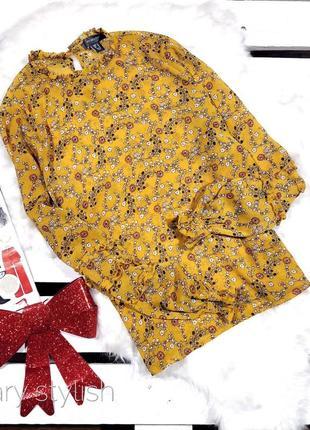Желтая блузка в цветочек светится primark