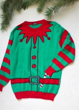 Мужской новогодний свитер єльфа (111), размер l