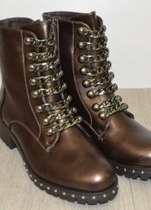 Молодежные женские демисезонные ботинки польша