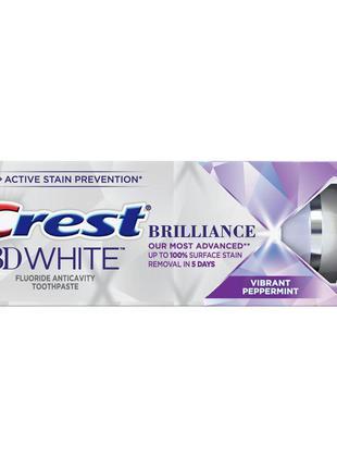 Отбеливающая зубная паста crest 3d white brilliance vibrant pe...