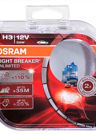 Автолампа OSRAM Night Breaker Unlimited +110% H3 12V 55W PK22s...