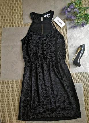 Новое вечернее  платье короткое бархатное с биркой