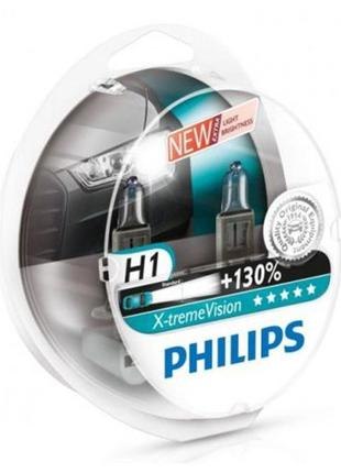 Лампа Н1 12V 55 W PHILIPS X-treme Vision+130% (2шт)