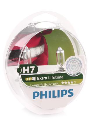 Лампа Н7 12V 55 W PHILIPS LongLife EcoVision