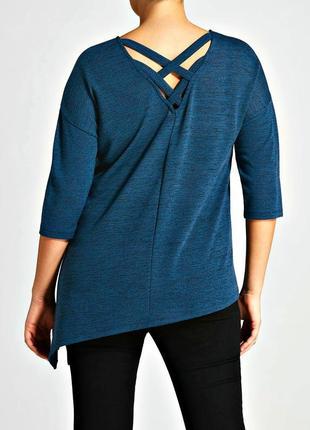 Стильная блуза асимметричного кроя с разрезом р.20