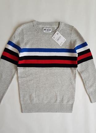 Хлопковый джемпер, свитер, кофта c&a в полоску.