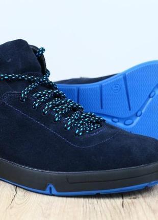 Lux обувь! качественные зимние натуральные замшевые мужские бо...