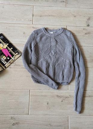 Красивый укороченный свитер кроп топ с легким напылением s m