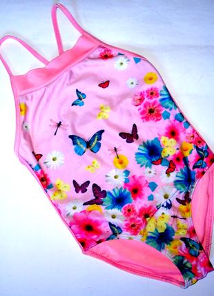 Сдельный купальник 6-7 лет бабочки