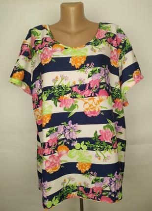 Блуза красивая цветочная легкая большого размера uk 20-22
