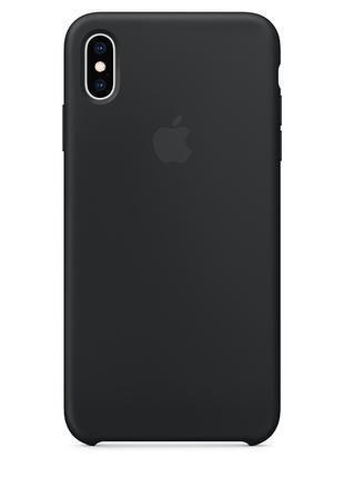 Силиконовый чехол для iPhone X/XS, цвет «черный»
