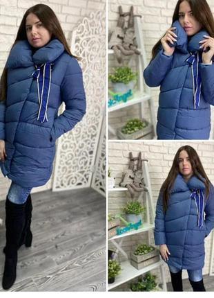Куртка - пальто куртка-пальто с бантом бантиком длинное удлине...