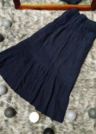 Пышная юбка длиною миди из коттона bm