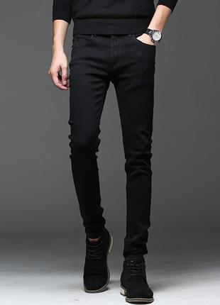 H&m черные мужские джинсы скиини, skinny jeans 31/32