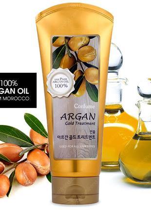 Маска для волос с маслом арганы и золотом Welcos Confume Argan Go