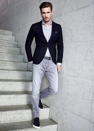 Светло серые джинсы с напылением g-star raw 5620