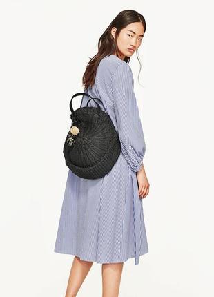 Чёрная,плетеная сумка,торба,корзина,этно,бохо стиль, zara