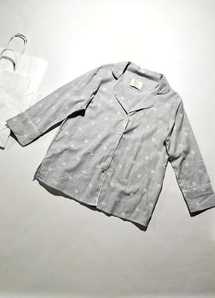 Домашняя рубашка в тонкую полоску верх от пижамы love to lounge