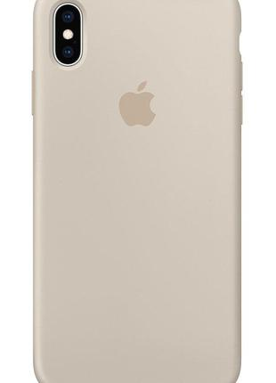 Силиконовый чехол для iPhone X/XS, цвет «молочный»