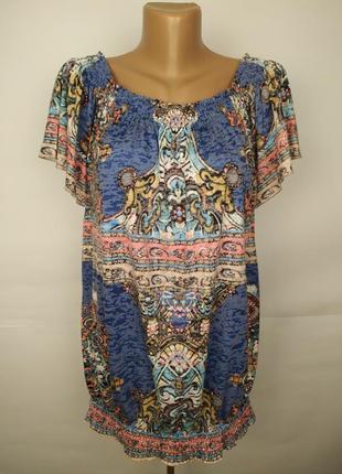 Блуза красивая в орнамент uk 14/42/l