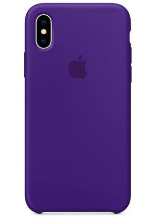 Силиконовый чехол для iPhone X/XS, цвет «пурпурный»