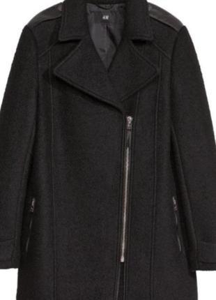 Шерстяное пальто-косуха от h&m