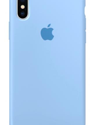Силиконовый чехол для iPhone X/XS, цвет «голубой»