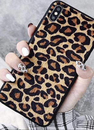 Новый леопардовый чехол на iphone x/xs
