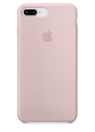 Силиконовый чехол для iPhone 7/8 plus, цвет «розовый песок»