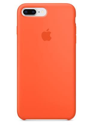 Силиконовый чехол для iPhone 7/8 plus, цвет «оранжевый шафран»