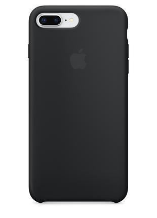 Силиконовый чехол для iPhone 7/8 plus, цвет «черный»