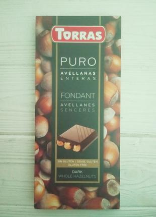 Шоколад черный с орехом без глютена Torras 200гр (Испания)