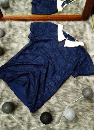 Топ блуза с воротничком atmosphere