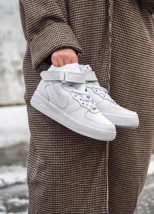 Nike air force зимние женские кроссовки с мехом/осень/зима/весна😍