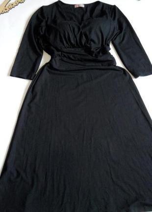 Платье миди 48 50 размер офисное бюстье  нарядное с рукавом но...