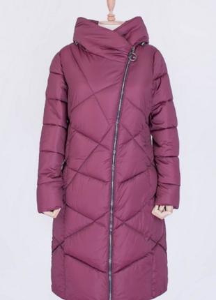 Зимняя куртка зима с капюшоном длинная удлиненная удлинённая с...