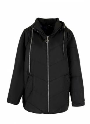 Демисезонная куртка курточка зима с капюшоном длинная удлиненн...